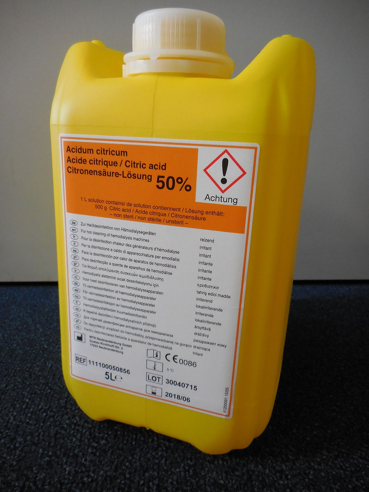 Image for MTN 50% Citric Acid